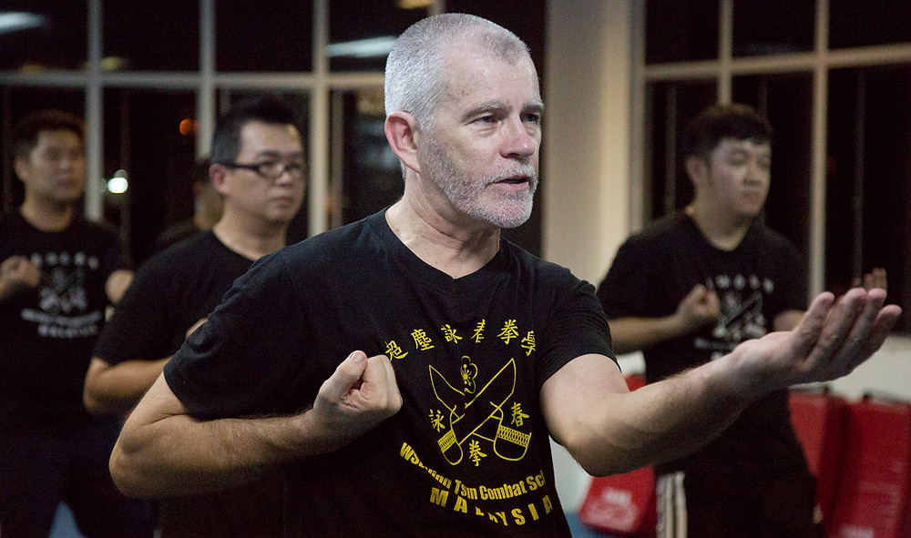 David Peterson in his Seremban class