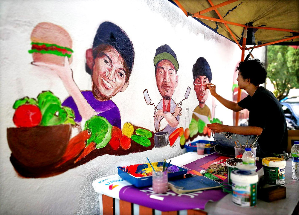 serembanonline photograph of ABA burger stall at Ampangan outside UTC by photographer Nic Falconer