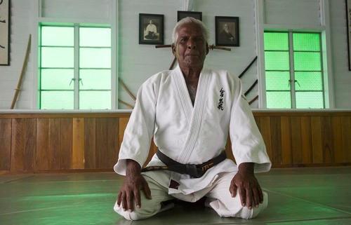 Thanby Raja, aikido master.