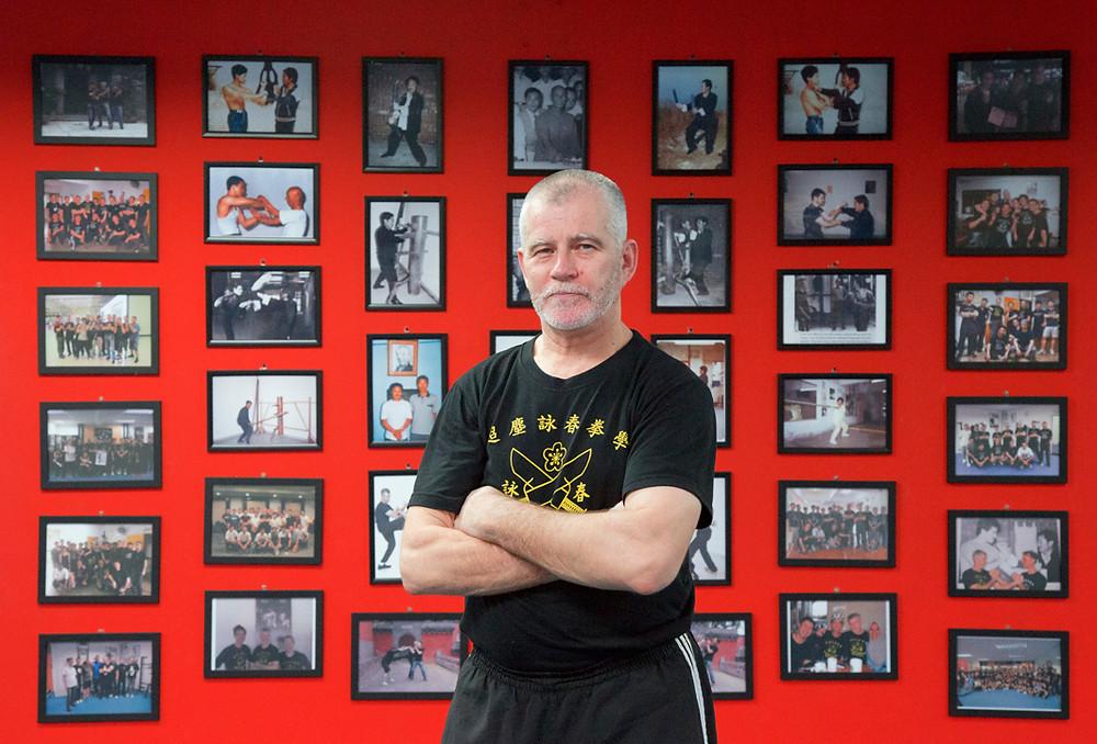 Australian Wing Chun teacher David Peterson in his Seremban classroom.