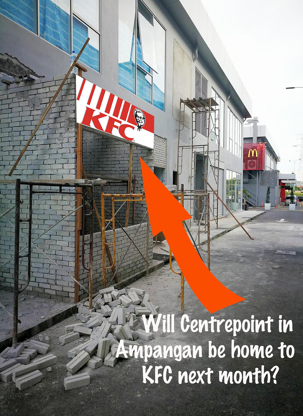 serembanonline altered photograph of Centrepoint KFC drive thru by nic falconer nicaliss