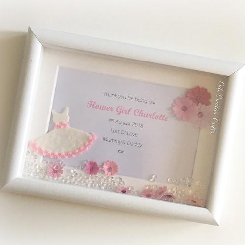 Flower Girl/Bridesmaid Thank You Frame