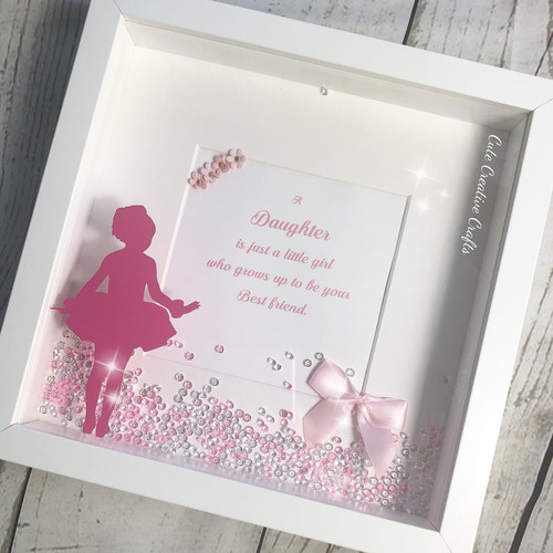 Daughter Silhouette Frame   Cute Creative Crafts   Hampshire   Gifts