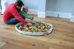Playmat and toy storage bag