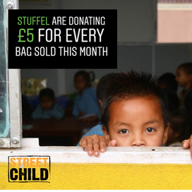 We're donating £5 for every bag sold this month to Street Child