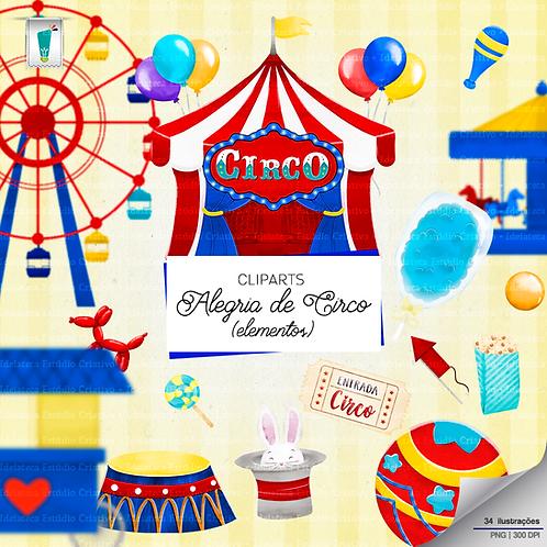 Cliparts Elementos - Alegria de Circo