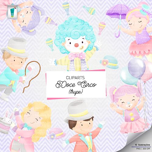 Cliparts Trupe - Doce Circo