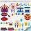 Thumbnail: Cliparts Elementos - Alegria de Circo
