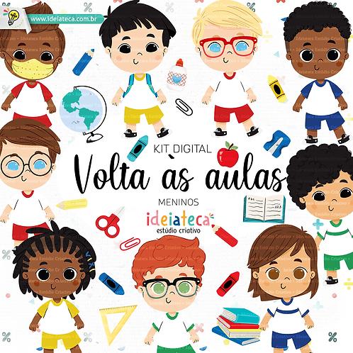 Kit Digital Volta as aulas -  Meninos