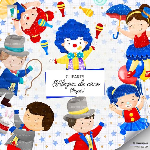 Cliparts Trupe - Alegria de Circo