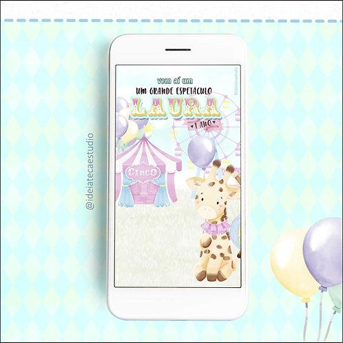 Festa Circo Candy - Convite Animado