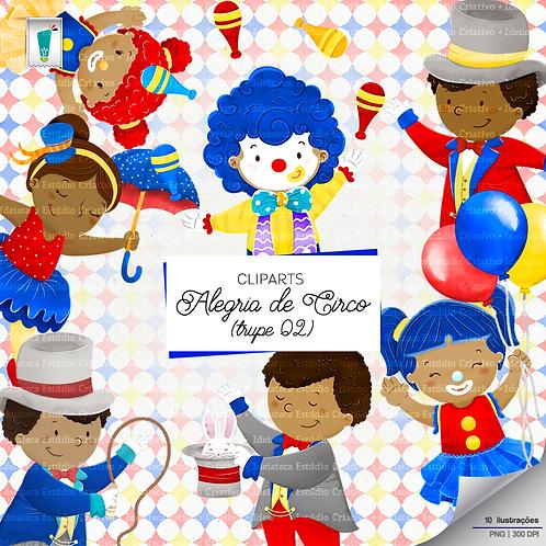 Cliparts Trupe 02 - Alegria de Circo