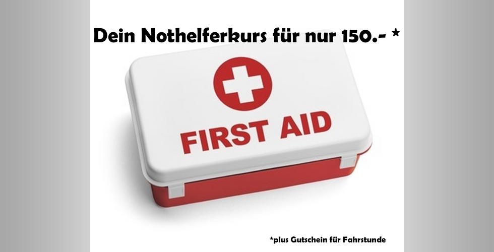 DRIVEMOTION Fahrschule  Biel / Bienne - Nothelfer Nothilfe Kurs 150 Franken Gutschein Fahrstunde