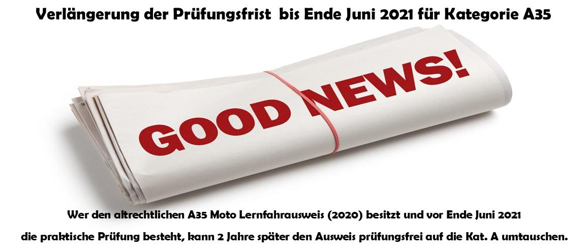 DRIVEMOTION Fahrschule Biel / Bienne - Verlängerung A35 Prüfung