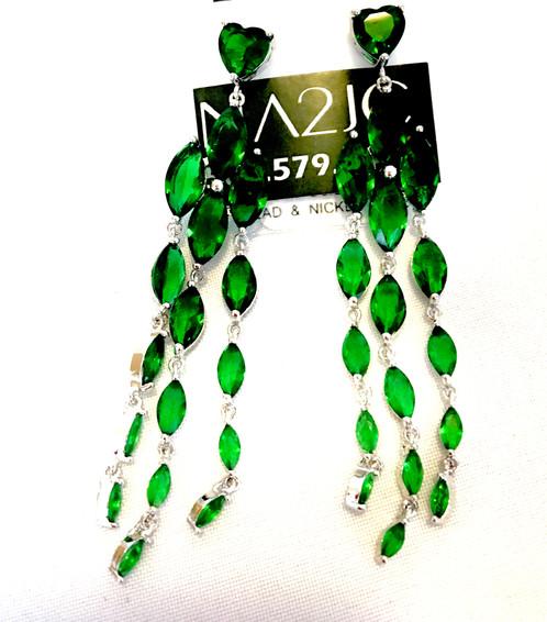 Emerald chandelier earringsgreen cubic zirconia jewelry emerald chandelier earringsgreen cubic zirconia mozeypictures Gallery