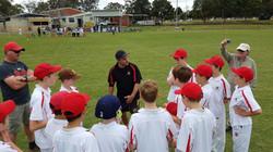 Sat. U12 team with Coach Dean - Round 4