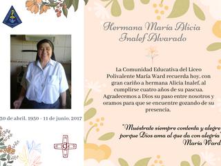 Recordamos a la hermana Alicia Inalef en su Pascua