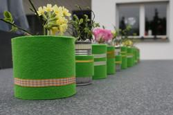 Tischdeko grün