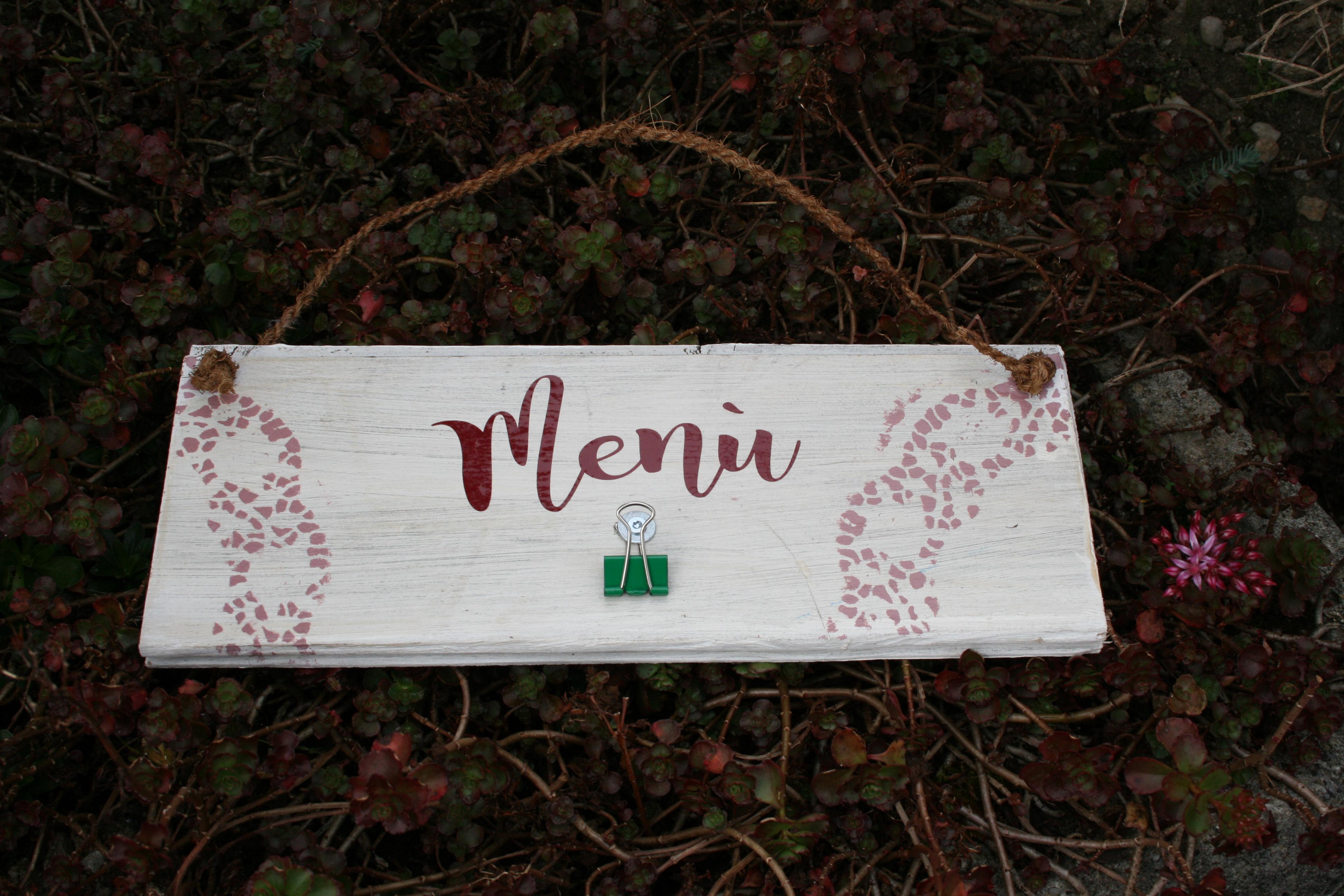Menü - Tafel