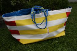 Ikeabadetaasche gelb/rot breit