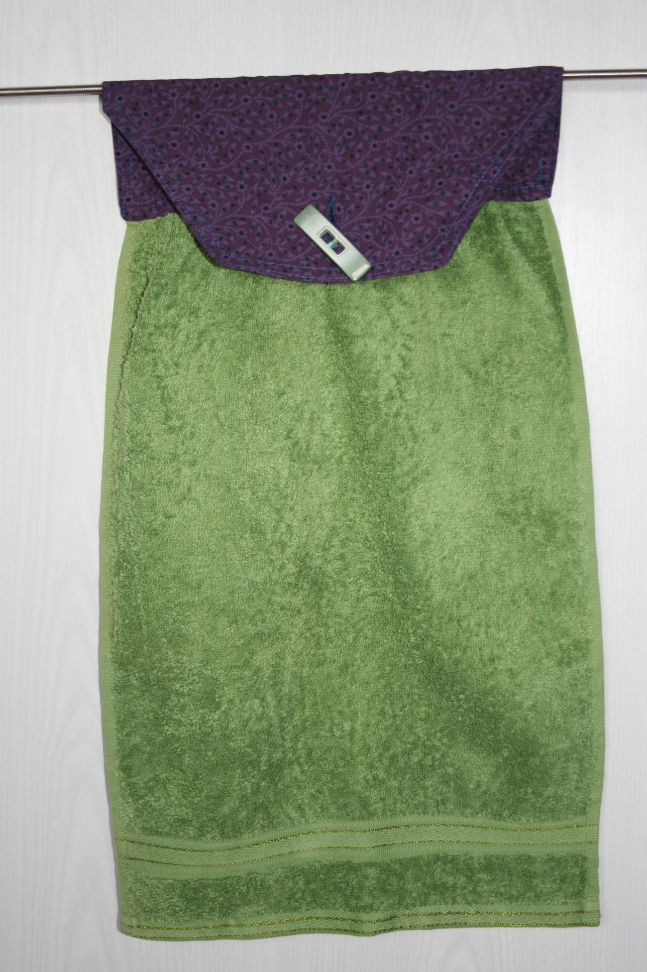 Handtuch grün -violett