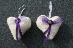 Wollherz violett