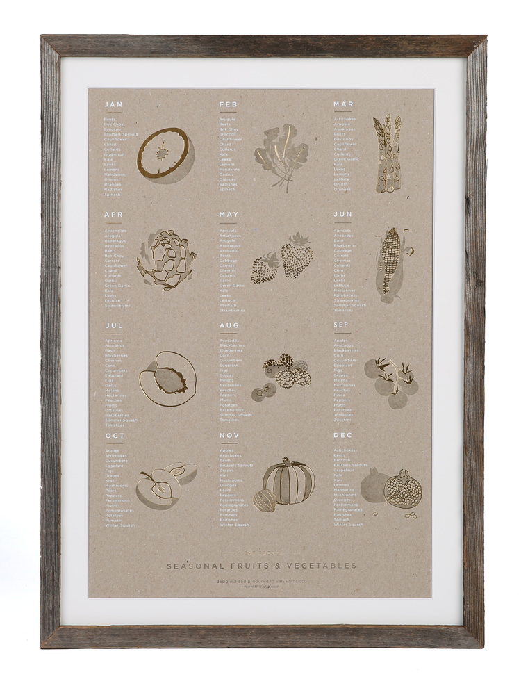 YAC | Seasonal Produce Print