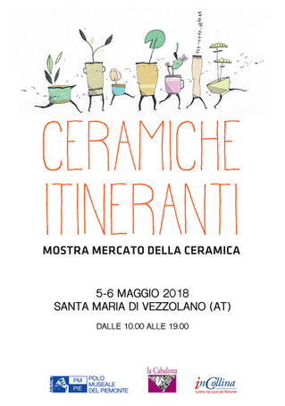 Ceramiche Itineranti a Santa Maria di Vezzolano (AT) - il 5 e 6 maggio 2018