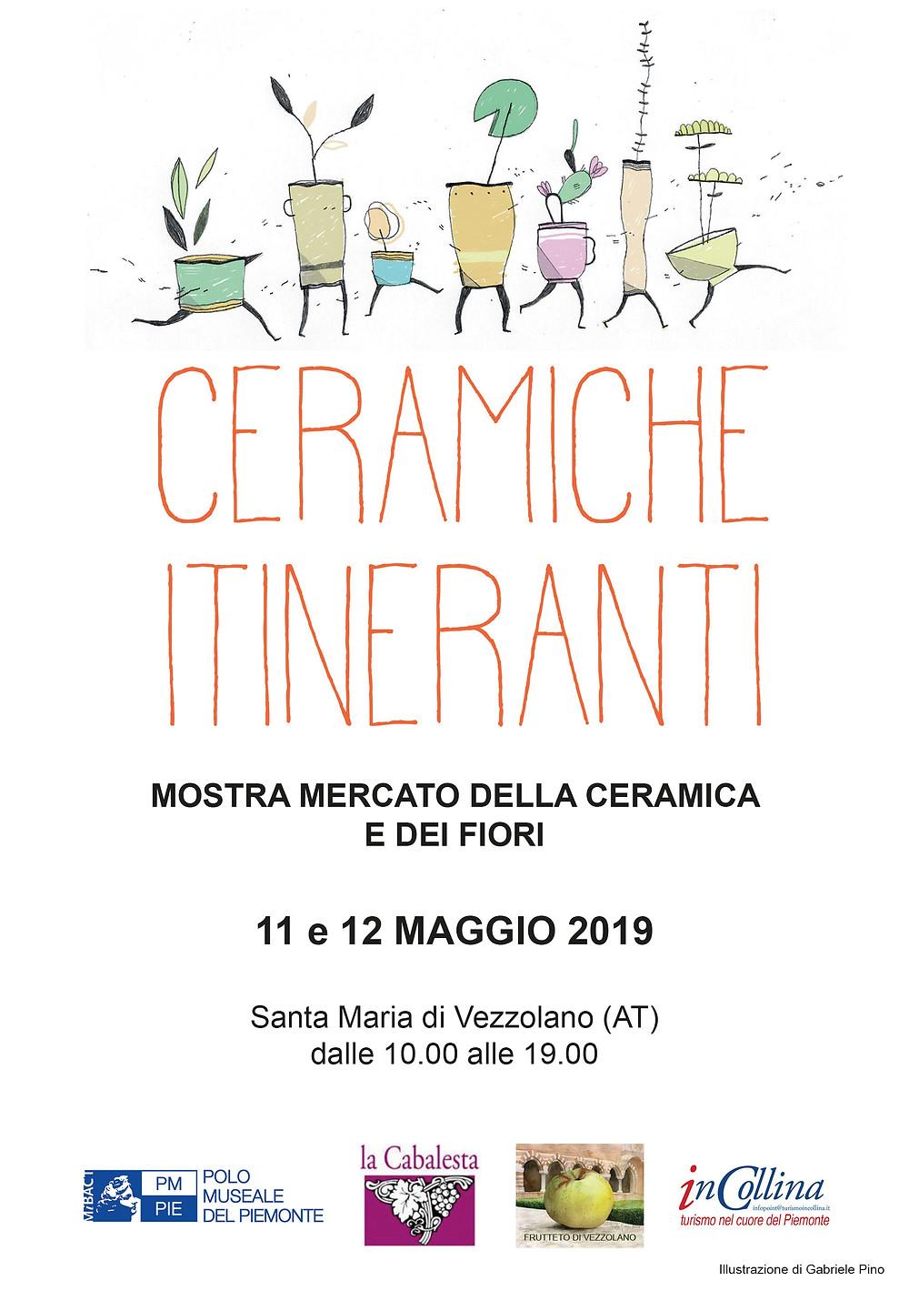 Nericata a Ceramice Itineranti, 11-12 maggio 2019 all'Abbazia di Vezzolano