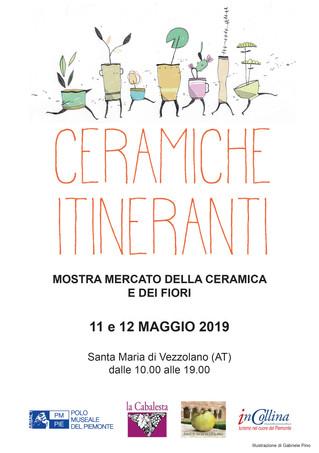 Ceramiche Itineranti all'Abbazia di Vezzolano l'11-12 maggio 2019