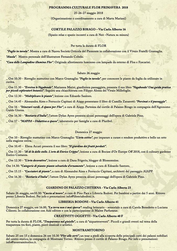 Programma Flor 2018