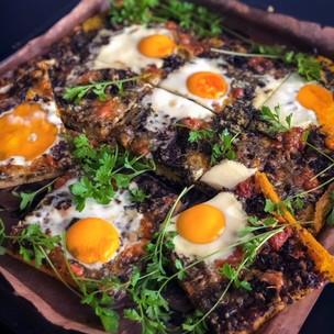 Polentová zelená pizza