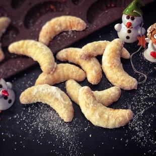 Mandlovo vanilkové rohlíčky
