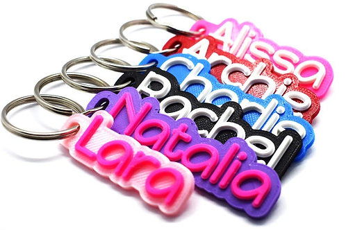 Named Keyring - Two Colours
