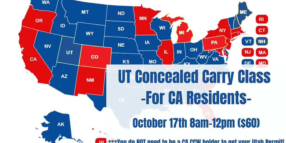 Utah Concealed Carry Course for CA residents