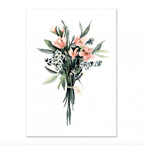 """Poster - """"FLOWER BOUQUET"""" DIN A4"""