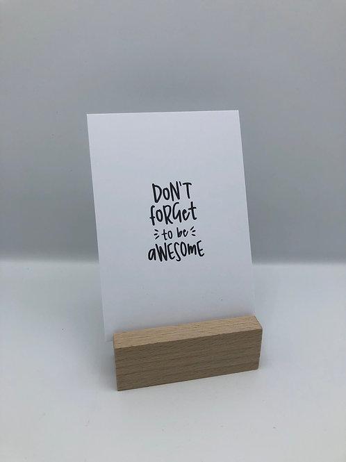 Postkarte 'awesome'