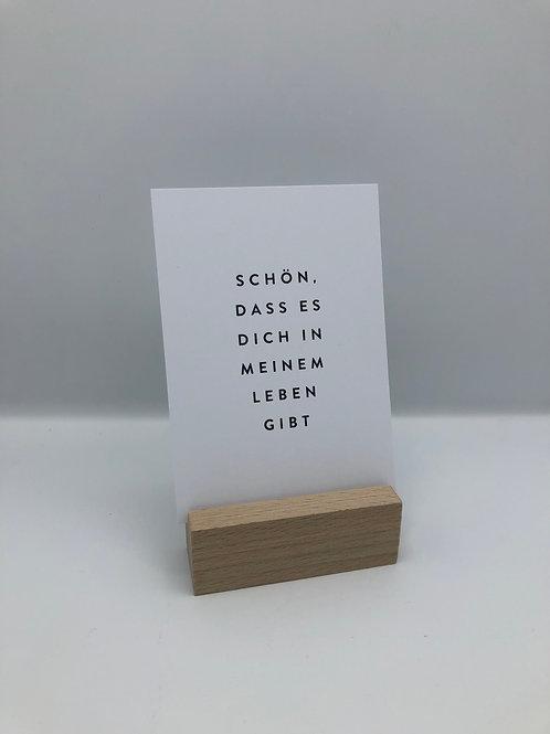 Postkarte 'Schön, dass es dich gibt'