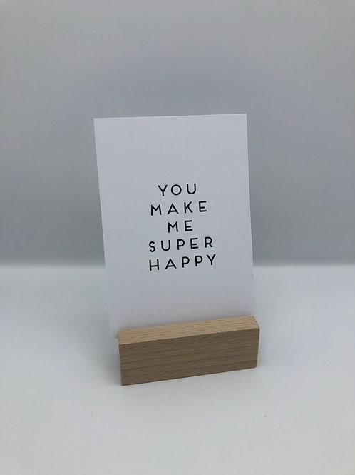 Postkarte 'happy'