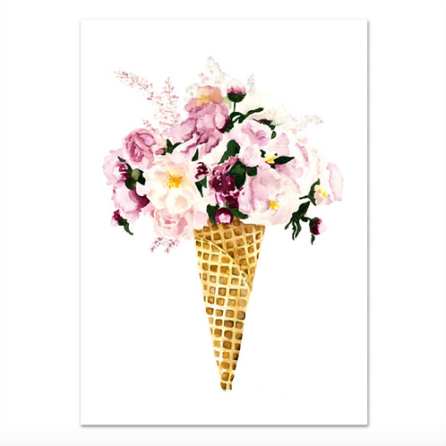 """Poster - """"FLOWER CONE"""" DIN A4"""
