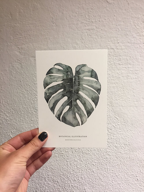 "Postkarte - ""URBAN MONSTERA"""