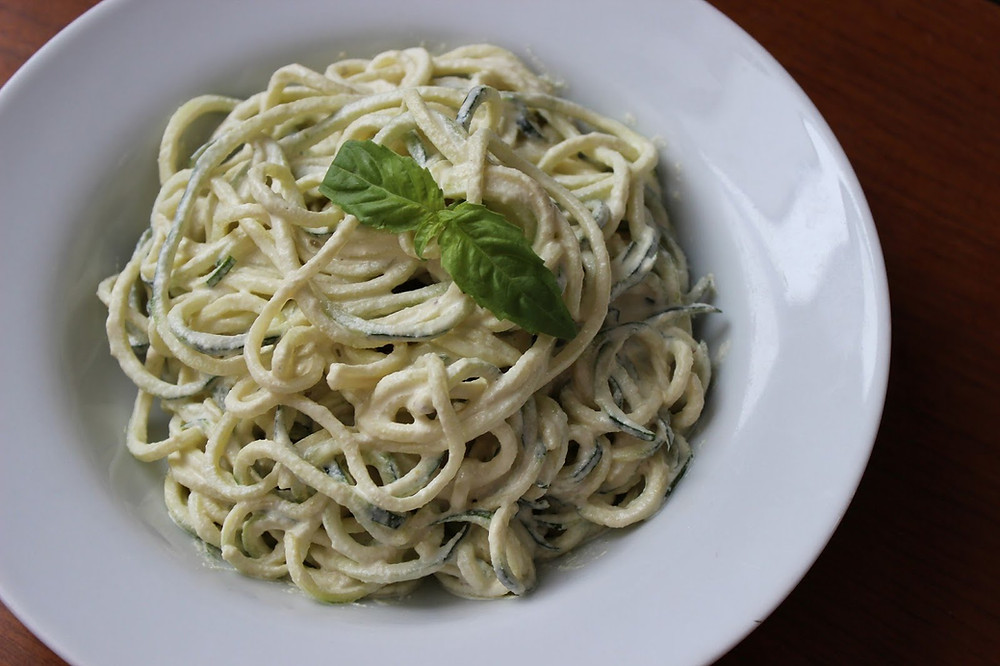 Laurie Hardie for 4 Ways to Yummy Zoodle Zucchini Alfredo