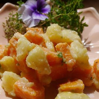 4 Way to Yummy Scarlet Tuber Salad Sweet Potatoes