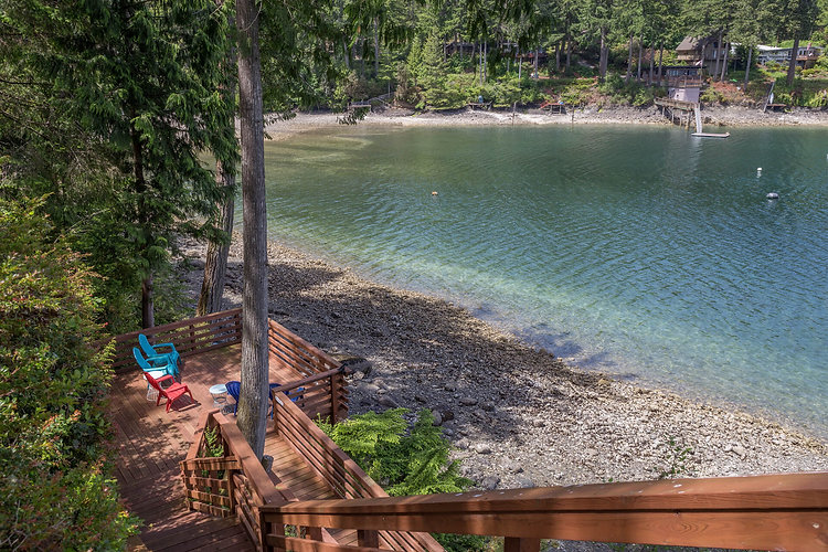 Vacation Homes on Hood Canal Water View from Stairs