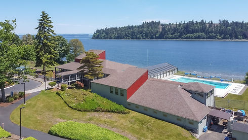 Vacation Homes on Hood Canal Happy Place on the Beach Aerial View