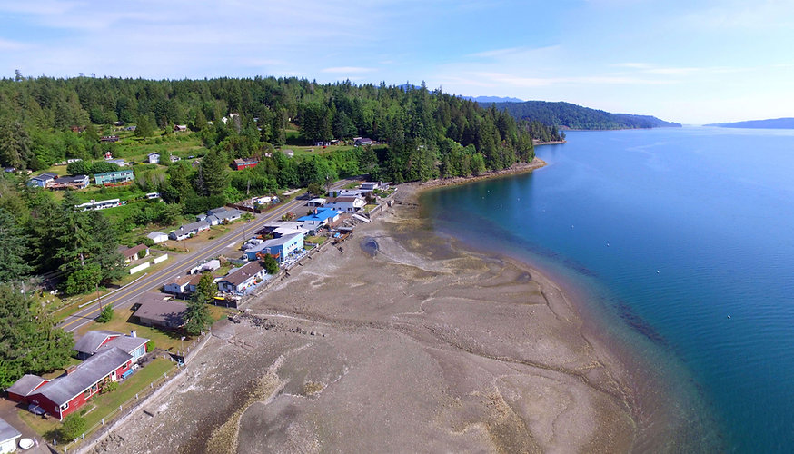 Vacation Homes on Hood Canal Aerial Waterfront Panorama