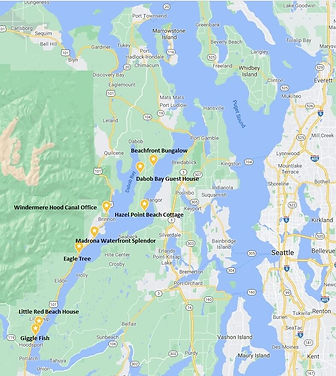 Vacation Homes on Hood Canal Map