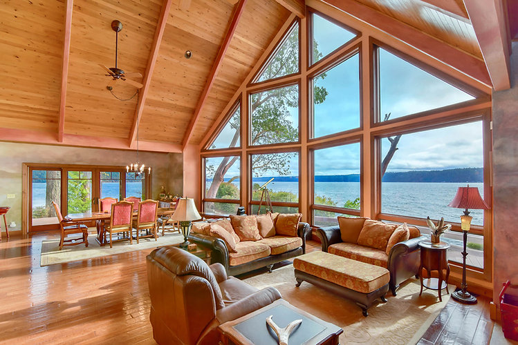 Vacation Homes on Hood Canal Madrona Great Room