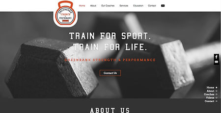 New Eve Creative Whidbey Island Web Design Greenbank Strength & Performance Project