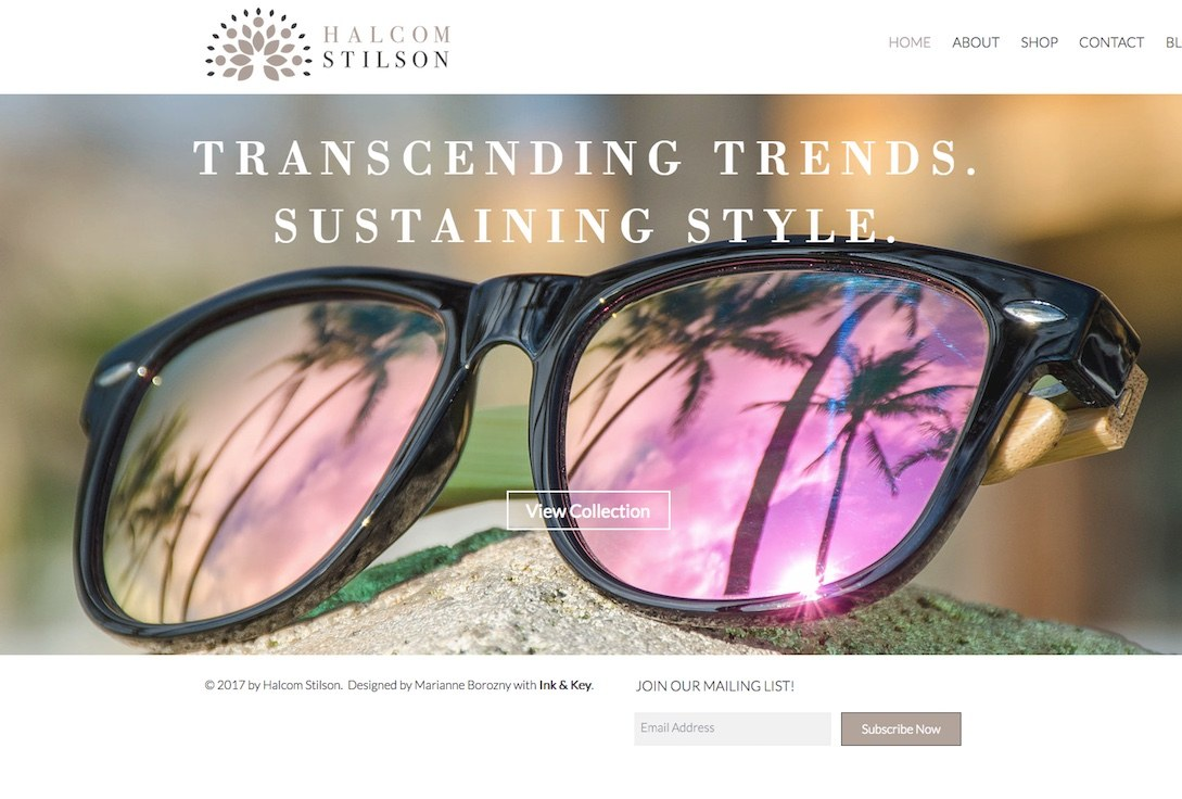 f7399d96e9 Wooden Wayfarer Sunglasses by Halcom Stilson. Eco-Friendly Bamboo Arms with  Pink Polarized Lenses. 100% UV Protection for Men   Women.